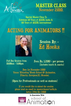 MasterClassActing4AnimationMumbaiNov10