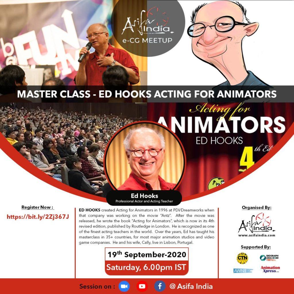 e-CG MEETUP 8 : Masterclass on Acting for Animators