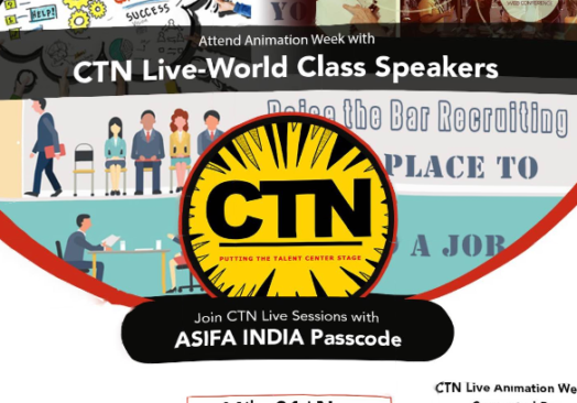Animation Week brought to you by Creative Talent Network(CTN), US & Supported by Asifa India