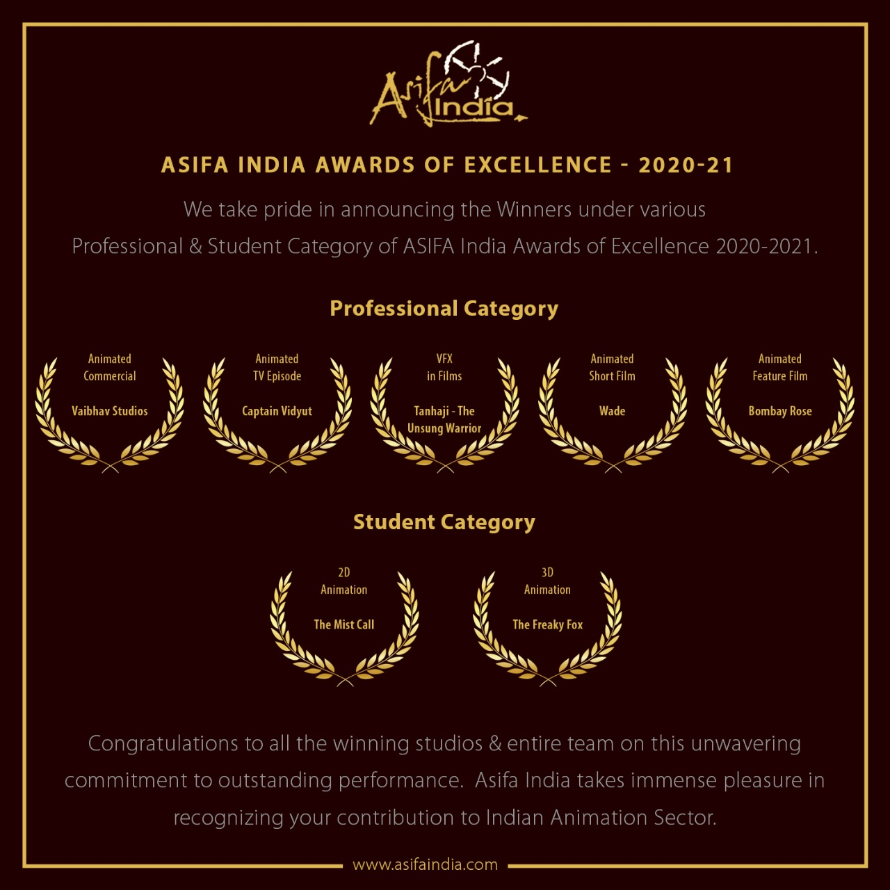 Asifa Award of Excellence